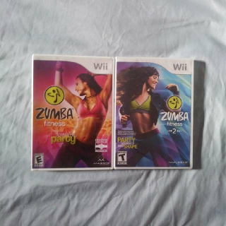 ZUMBA Fitness 1 & 2 Bundle (ZUMBA 2 is SEALED)