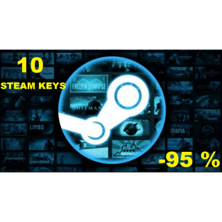 10 Steam Keys bundle