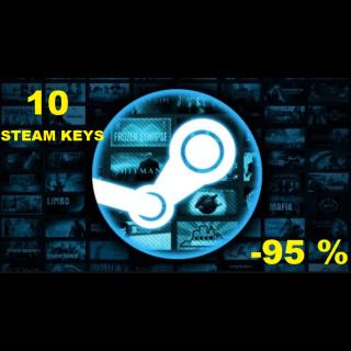10 Steam Keys bundle