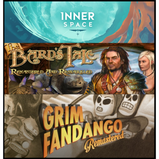 Inner Space, The Bard's Tale, Grim Fandango Remastered PS4