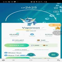 Vaporeon | 2625 Cp