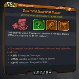 Class Mod   Zane Cold Warrior Mod