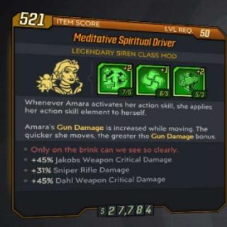 Class Mod   Sniper Spiritual Driver