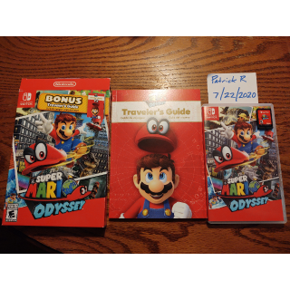 Super Mario Odyssey with Traveler's Guide - LNIB