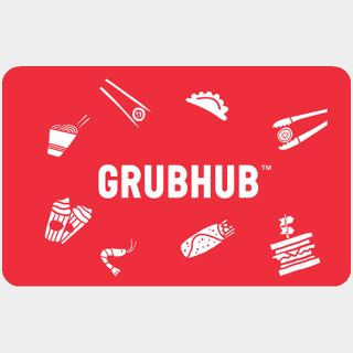 $25.00 GrubHub (INSTANT DELIVERY)