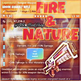 Argon Assault Rifle | Modded Fire & Nature 🔵
