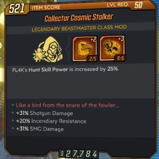 Class Mod   Collector Cosmic Stalker