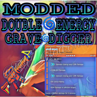 Grave Digger   Modded Double Energy 🌀