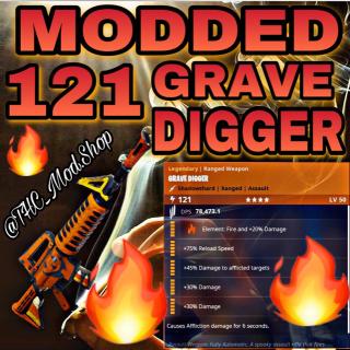 Grave Digger | Modded 121 Fire Grave 🔥