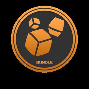 Bundle | blueprint | titanium white pixel fire
