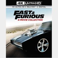 Fast and Furious 8 Film Collection [ 4k UHD ] MoviesAnywhere Code | ports all providers