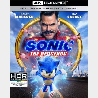 Sonic the Hedgehog 🔥🆓🔥 | 4K UHD  🇺🇸 iTunes | does not port MoviesAnywhere