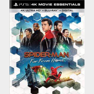 Spider-Man: Far From Home 🔥🆓🔥 | 4K UHD | MoviesAnywhere | ports Vudu/iTunes/GP/FN |