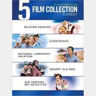 WB 5 Film Comedy Collection | HD  🇺🇸 Vudu redeem | ports MA/iTunes/GP |