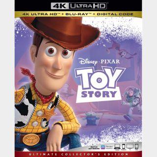 Toy Story | 4K UHD | MoviesAnywhere | Vudu | ports iTunes/GP/FN |