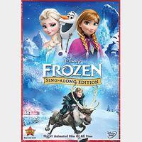 Frozen Sing Along Edition  [ HD ] ports MoviesAnywhere /Vudu   US- GooglePlay Code