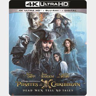 Pirates of the Caribbean: Dead Men Tell No Tales 🔥🆓🔥| 4K UHD | iTunes code | ports MoviesAnywhere/Vudu