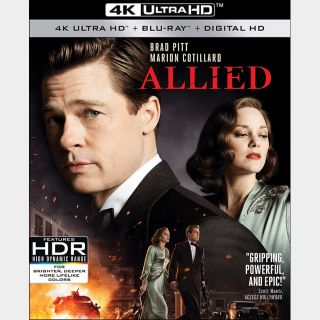 Allied 🆓🎦| 4K UHD  🇺🇸 iTunes code | does not port MoviesAnywhere
