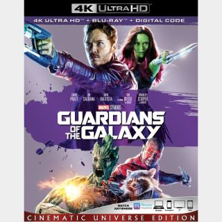 Guardians of the Galaxy | 4K UHD | iTunes code | ports MoviesAnywhere/Vudu