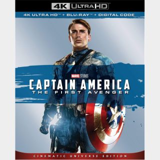 Captain America: The First Avenger | 4K UHD | iTunes code | ports MoviesAnywhere/Vudu