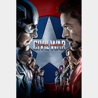 Captain America: Civil War | HDx | GooglePlay | ports MoviesAnywhere /Vudu/iTunes/FN