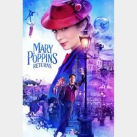 Mary Poppins Returns [ 4k UHD ] ports MoviesAnywhere/Vudu   iTunes code