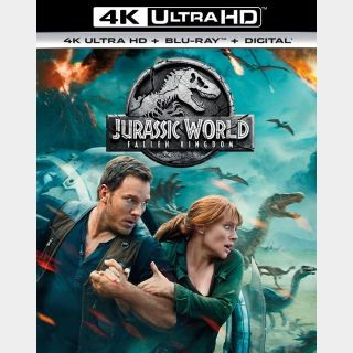 Jurassic World: Fallen Kingdom | 4K UHD | MoviesAnywhere | ports Vudu/iTunes/GP/FN |