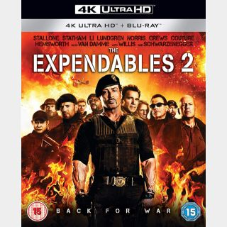 The Expendables 2   4K UHD   iTunes code   do not port MoviesAnywhere