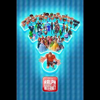 Ralph Breaks the Internet | HDx | GooglePlay | ports MoviesAnywhere/Vudu