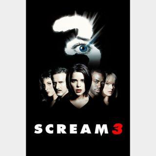Scream 3 🔥🆓🔥 | HDx | Vudu or iTunes | does not port MoviesAnywhere