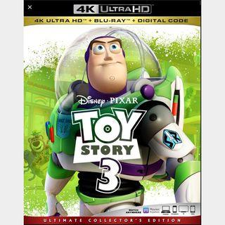 Toy Story 3 | 4K UHD | MoviesAnywhere | Vudu | ports iTunes/GP/FN |