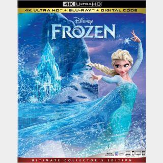Frozen   4K UHD   iTunes code   ports MoviesAnywhere/Vudu