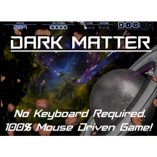 Dark Matter Old School Asteroids Style Game - 100% Mouse Driven Excellent Space Shooter! - Automatic Key Delivery with payment!