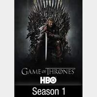 Game of Thrones Season 1 Vudu itunes