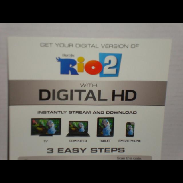 Rio 2 Digital HD Movie Code - Digital Movies - Gameflip