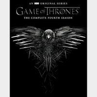 Game Of Thrones Season 4 Digital HD Vudu itunes