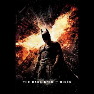 The Dark Knight Rises Digital HD Movie Code Movies Anywhere