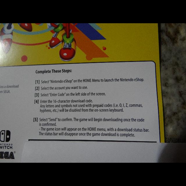 Sonic Mania <b>Nintendo Switch</b> Digital Download <b>Code</b> - <b>Nintendo</b> ...