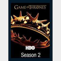 Game of Thrones Season 2 Digital HD Vudu itunes