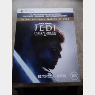 Jedi Fallen Order Deluxe DLC Content Only PS4 (No Game)