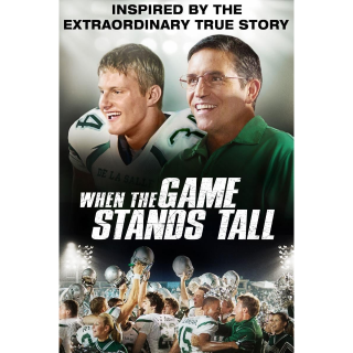 When the Game Stands Tall Digital Movie Code Movies Anywhere