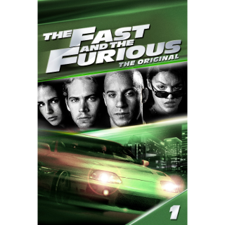 The Fast and the Furious  Digital HD Movie Code Movies Anywhere