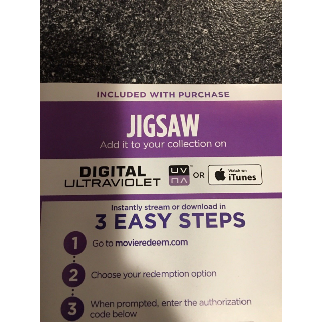 Jigsaw Digital HD Movie Code - Digital Movies - Gameflip