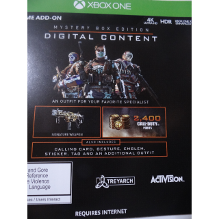 Call of Duty: Black Ops 4 Mystery Box Code XBOX ONE
