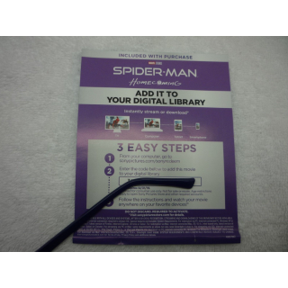 Spider-Man: Homecoming Digital HD Movie Code