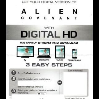 Alien: Covenant Digital HD Movie Code