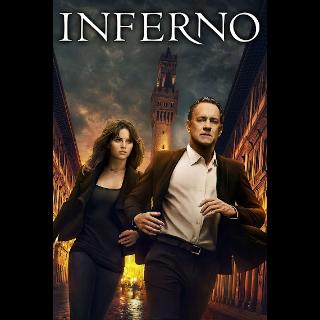 Inferno Digital HD Movie Code