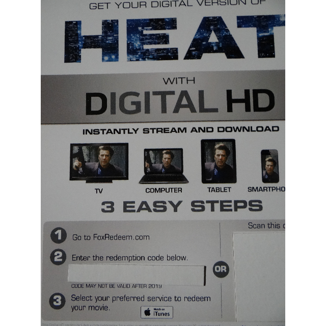 Heat Digital HD iTunes Codes Download - Digital Movies - Gameflip