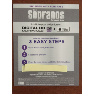 The Sopranos Complete Series Digital HD Code
