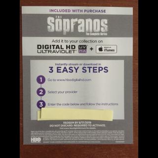 The Sopranos Complete Series Digital HD Code